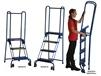 STEEL AND ALUMINUM MODIFIED LOCK-N-STOCK FOLDING LADDER