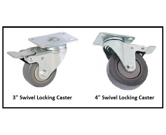 "CASTERS FOR 21"" AND 28"" DEPTH DRAWER CABINETS"